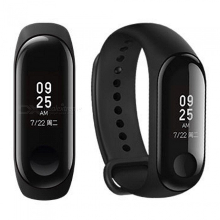 Фитнес - браслет XIAOMI Mi Band 3 Black умные смарт часы, телефон