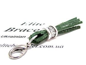 Кисточка из натуральной кожи Зеленая, фото 2