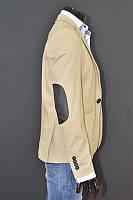Мужской классический пиджак с накладками на локтях из кожи  Размер S
