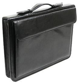 Деловая папка-портфель Exclusive из кожзаменителя Черный (711200)