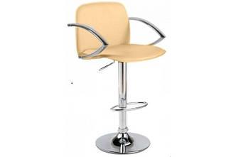 Кресло для визажа Люкс, барный стульчик со спинкой высокий, хокеры