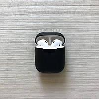 Чехол для наушников AirPods silicone case, черный / black