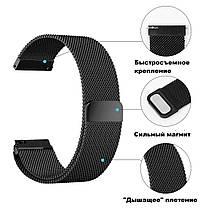 Ремешок BeWatch миланская петля для Samsung Galaxy Watch 42 мм Черный (1010201.3), фото 3