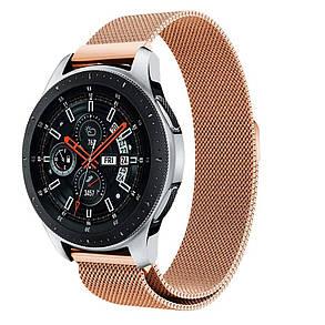 Ремешок BeWatch миланская петля для Samsung Galaxy Watch 46 мм Розовое золото (1020238.2), фото 2