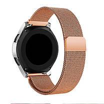 Ремешок BeWatch миланская петля для Samsung Galaxy Watch 46 мм Розовое золото (1020238.2), фото 3