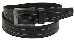 Кожаный ремень Skipper 110-130 x 3.8 см Черный (1092-38)