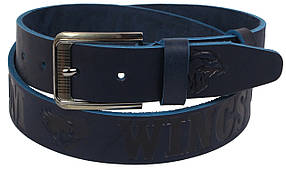 Кожаный ремень Skipper 110-130 x 3.8 см Синий (1123-38)