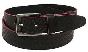 Кожаный ремень Skipper 110-130 x 4 см Коричневый (1085-40)