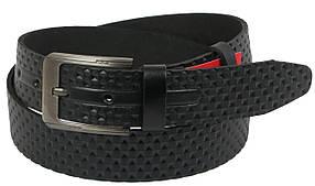 Кожаный ремень Skipper 110-130 x 3.8 см Черный (1110-38)
