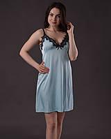 Пеньюар женский из шелка Армани с французским кружевом Шантильи, фото 1