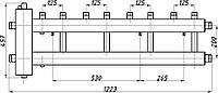Коллектор стальной с крепл.КГС42В.125.(200) СК-422.125 (с гидрострелкой, выход вверх)