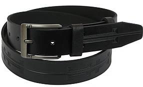 Кожаный ремень Skipper 110-130 x 3.8 см Черный (1107-38)
