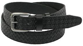 Кожаный ремень Skipper 110-130 x 3.8 см Черный (1126-38)