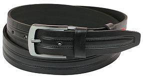 Кожаный ремень Skipper 110-130 x 4 см Черный (1080-40)