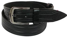 Кожаный ремень Skipper 110-130 x 4 см Черный (1063-40)
