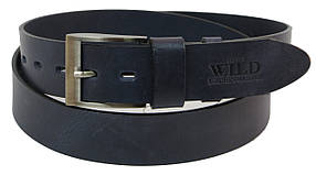Кожаный ремень ALWAYS WILD 110-130 x 4 см Синий (PPW-29)