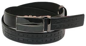 Кожаный ремень Skipper 110-130 x 3.5 см Черный (1067-35)
