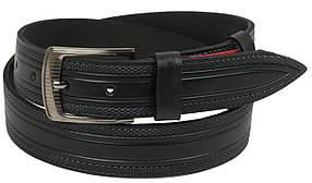 Кожаный ремень Skipper 110-130 x 3.8 см Черный (1122-38)