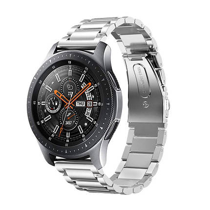 Ремешок браслет для смарт-часов BeWatch стальной для Samsung Galaxy Watch 46 мм Серебро (1020405), фото 2