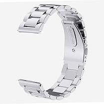 Ремешок браслет для смарт-часов BeWatch стальной для Samsung Galaxy Watch 46 мм Серебро (1020405), фото 3
