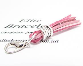 Кисточка из натуральной кожи Розовая, фото 2