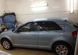 Ветровики, дефлекторы окон Audi A3 Hatchback 3d (8P) 2004-2012 'Cobra tuning'