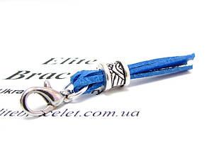 Кисточка из натуральной кожи Синяя, фото 2