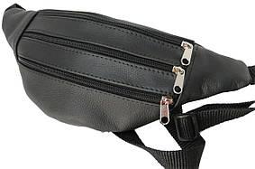 Мужская поясная сумка из кожи Cavaldi Черный (856332)