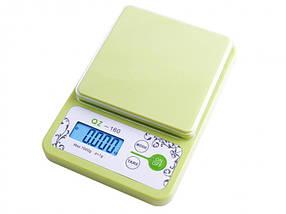 Весы кухонные электронные Luxury QZ-160 Green (QZ.160gr)