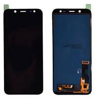 Дисплей Samsung SM-J600F Galaxy J6 (2018) black with touchscreen TFT с регулируемой подсветкой