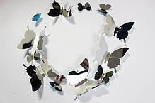 """Наклейка на стену, виниловые наклейки, украшения стены наклейки """"наклейки 3D бабочки зеркальные 12шт, фото 3"""