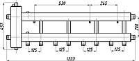 Коллектор стальной с крепл. КГС42Н.125.(200) СК-432.125 (с гидрострелкой, выход вниз)
