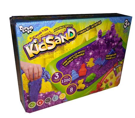 Кинетический песок Danko Toys KidSand 1200 г с песочницей Разноцветный (gab_krp150OQdk7), фото 2