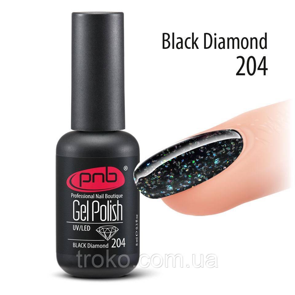 Гель-лак PNB № 204 Black Diamond, 8 мл