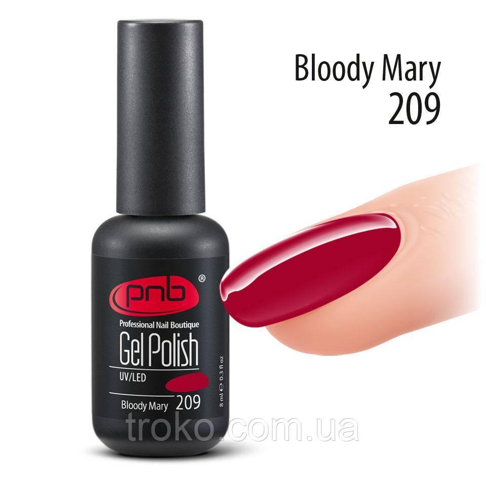 Гель-лак PNB № 209 Bloody Mary, 8 мл