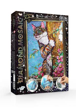 Набор для творчества Danko Toys Алмазная живопись Diamond mosaic Кот Разноцветный (AJYTQUDL), фото 2