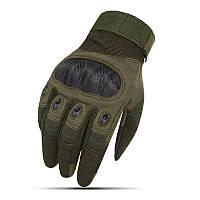 Перчатки тактические OAKLEY с закрытыми пальцами XL Зеленые (OA-66XL)