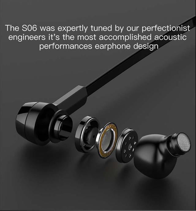 Беспроводные Bluetooth наушники Baseus Encok Magnet Wireless Earphone S06 со встроенным микрофоном Черные