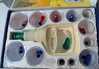 Вакуумные банки с насосом (набор 12шт.) - банки для вакуумного массажа, фото 1