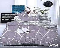 Комплект постельного белья из сатина с компаньоном Соты S324,  разные размеры евро