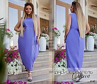 Платье летнее длинное без рукав лён 50-52,54-56,58-60,62-64