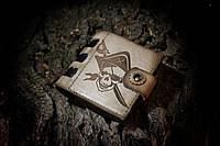 """Небольшой кожаный мужской кошелек """"Stem-Pirate"""" ручной работы"""