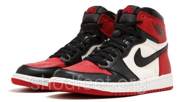 Кроссовки Air Jordan 1 Retro High Bred Toe