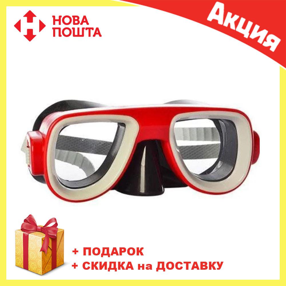 Детская маска для подводного плаванья MSW 028-1179SH красная | очки для плавания | очки - маска для ныряния