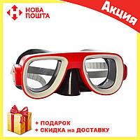 Детская маска для подводного плаванья MSW 028-1179SH красная | очки для плавания | очки - маска для ныряния, фото 1