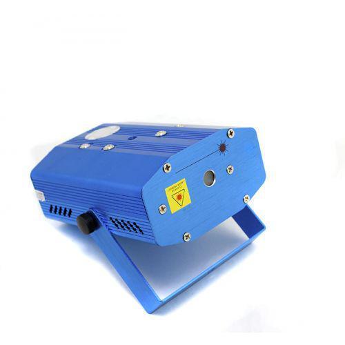 Лазерный проектор мини стробоскоп 6 в 1 Синий (005229)