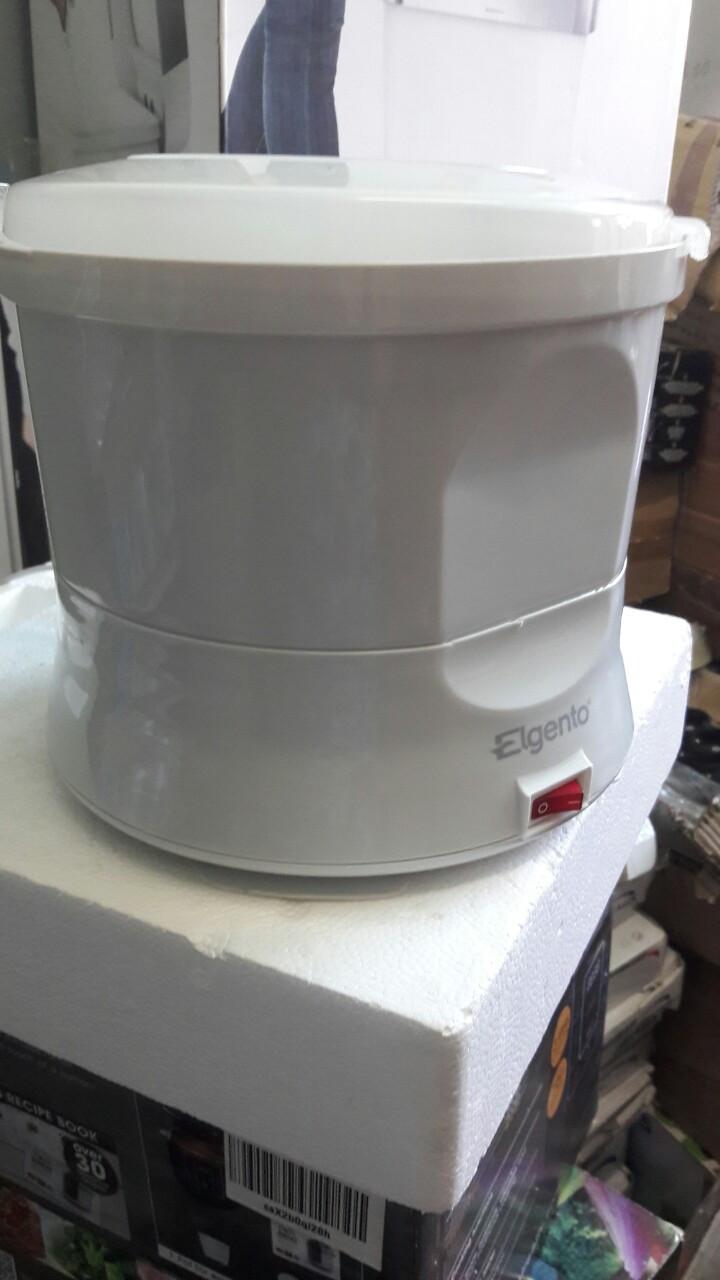 Электрическая машина для очистки картофеля Elgento E010 Electric Potato Peeler and Salad Spinner, 1 kg, White