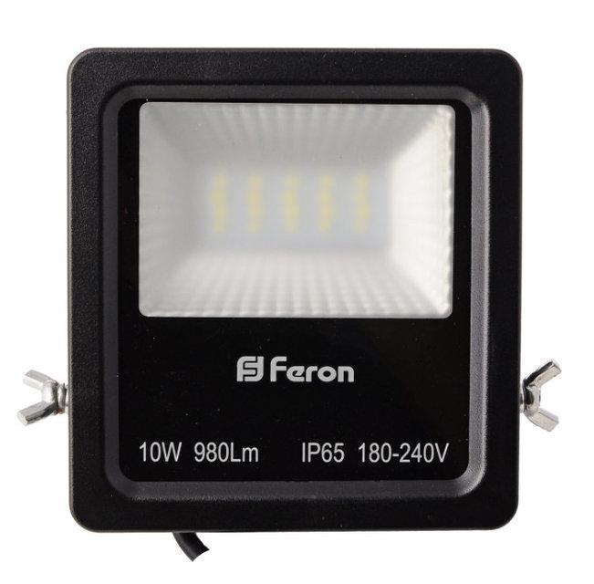 Прожектор светодиодный Feron LL-610 LED 20 LEDS Черный (007655)