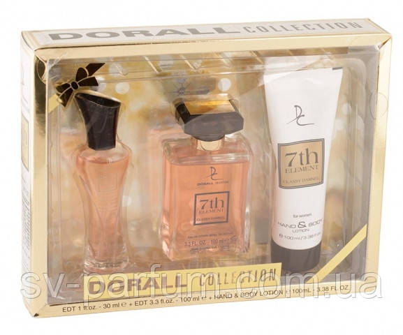 Набор женский DC 7th Element (edt30+edt100+lotion)