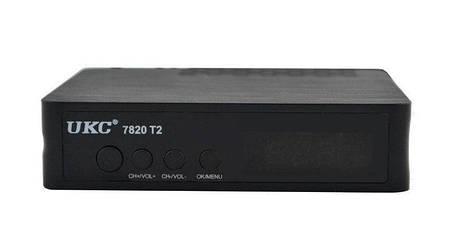 Тюнер цифровой UKC DVB-T2 7820 Черный (008094), фото 2